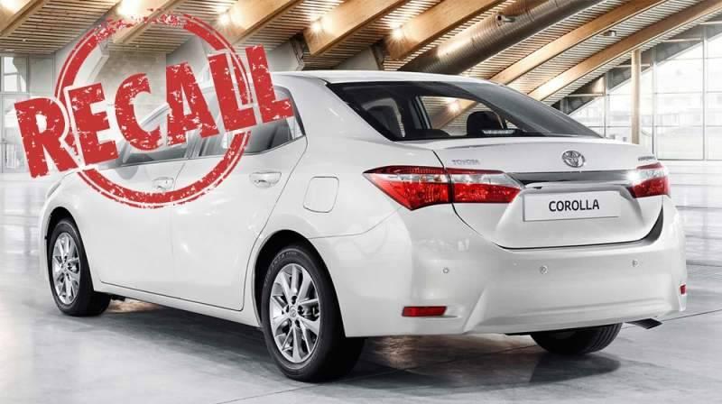 Toyota IMC recalls 1719 Corolla Altis Grande units