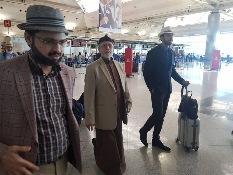 Dr Tahirul Qadri leaves Turkey for Pakistan