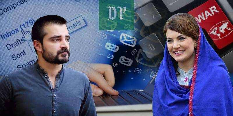 Reham Khan releases 'threatening' emails sent by Hamza Ali Abbasi