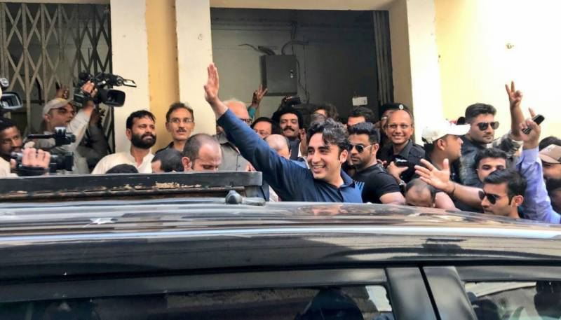 Bilawal Bhutto files nomination papers for NA-246