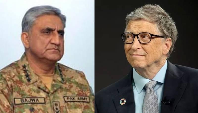 Bill Gates felicitates Gen Bajwa on successful anti-polio campaign