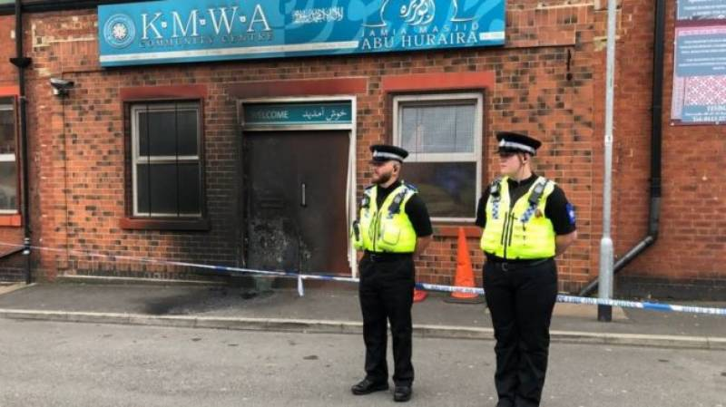 Man arrested over arson attack at mosque and Sikh gurdwara in England