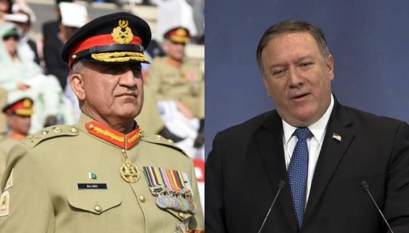 US' Pompeo contacts Pak Army chief to advance bilateral ties