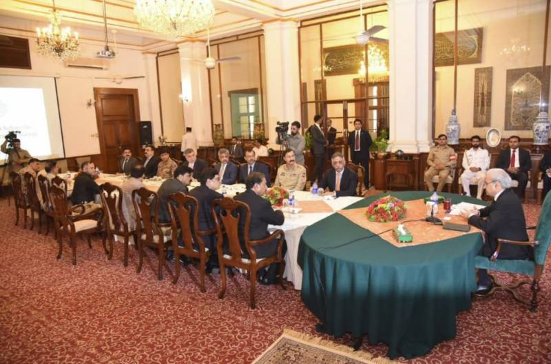 PM Nasirul Mulk discusses political situation with governor Sindh during Karachi visit