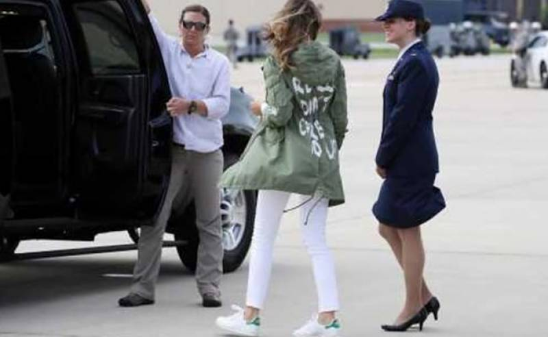 Melania Trump shocks everyone with her new jacket