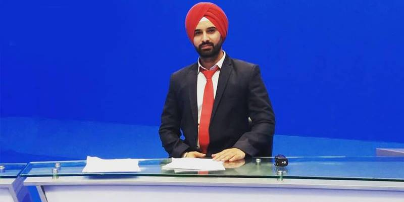 Pakistan's first Sikh newscaster set to shine at upcoming channel