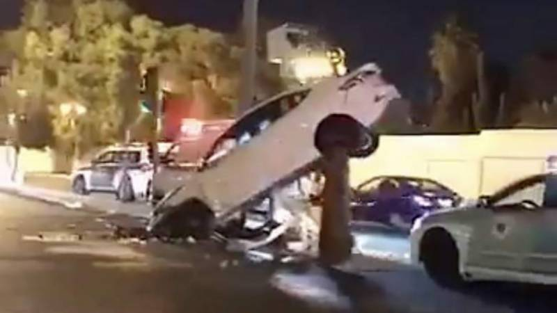 First day of women driving in Saudi Arabia, did a woman actually crash her car?