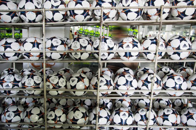 Footballs export increases by over 10pc in fiscal year 2017-18