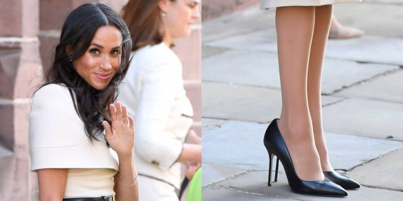 This is why Meghan Markle always wears shoes big for her