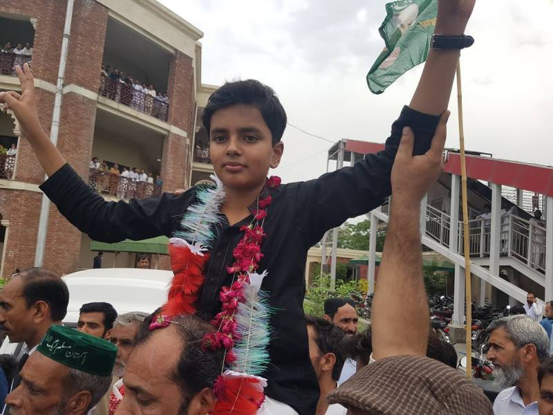 12-year-old son of detained PML-N leader kick-starts election campaign against Ch Nisar