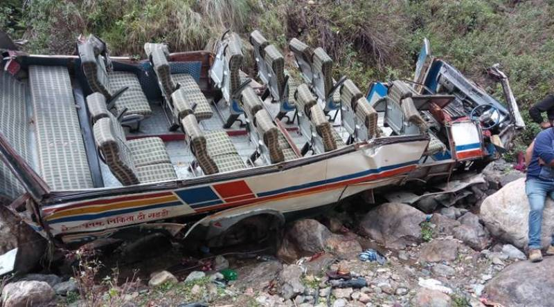 48 killed after overcrowded bus plunges into gorge in India