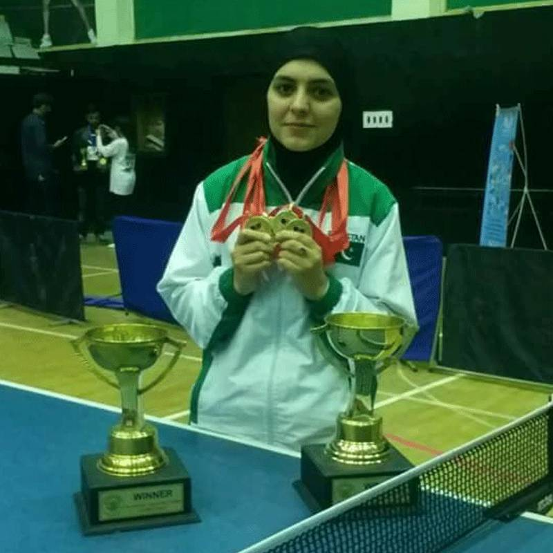 Pakistan's table tennis star Iqra Rehman encourages other girls to adopt the sport
