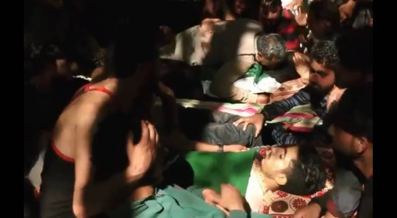 Wrapped in Pakistani flags: Kashmiris bury civilian protesters killed by Indian Army