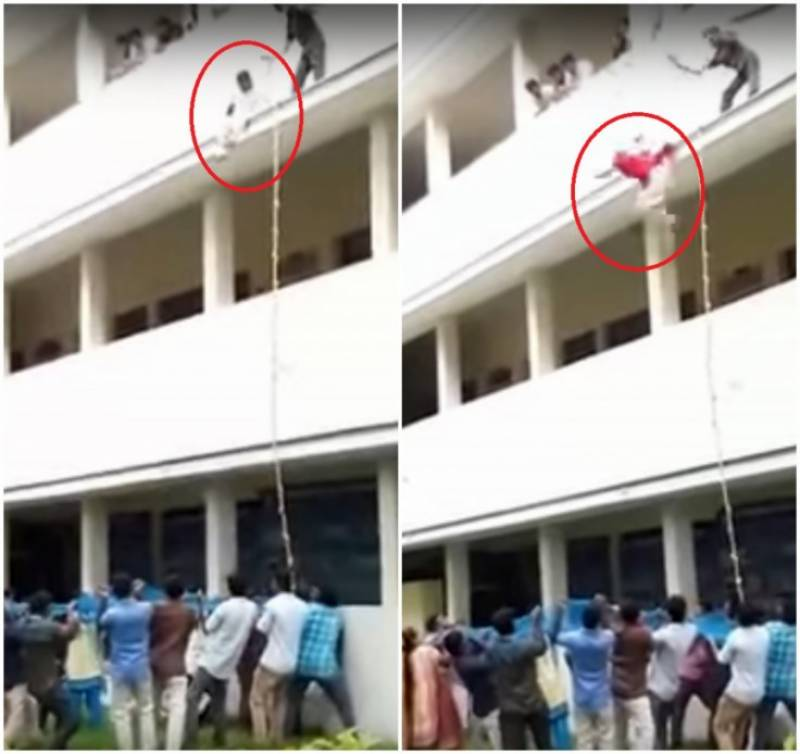 19-year-old girl student pushed to death during safety drill in India (Video)