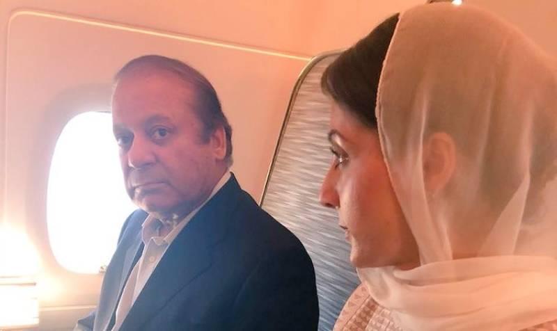 Nawaz, Maryam land in Abu Dhabi en route to Pakistan