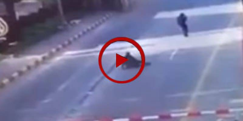 Robbers dodge security officials in broad day light (VIDEO)
