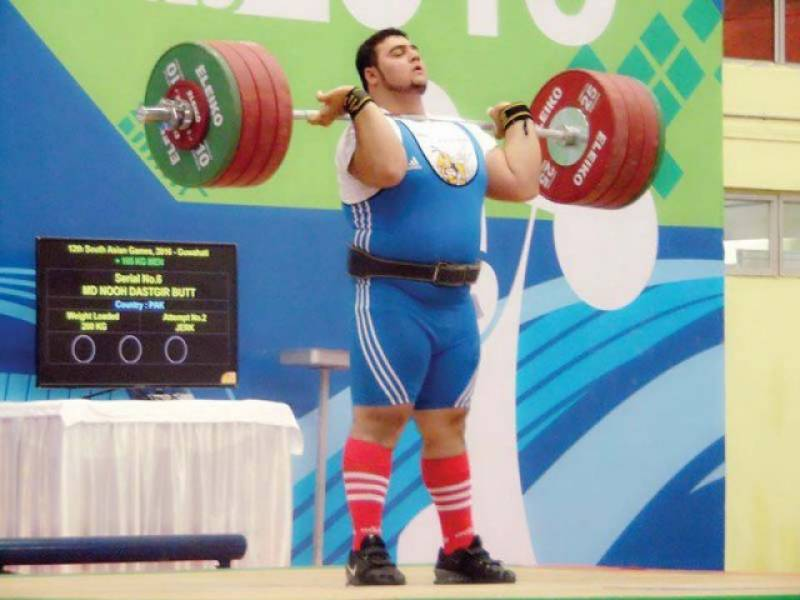 Pakistani weightlifter Nooh Butt breaks Commonwealth Games record