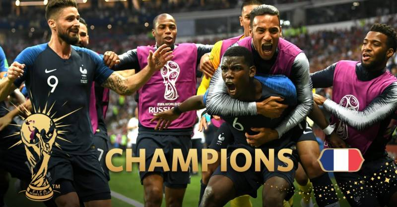 France beat Croatia 4-2 to win FIFA World Cup 2018