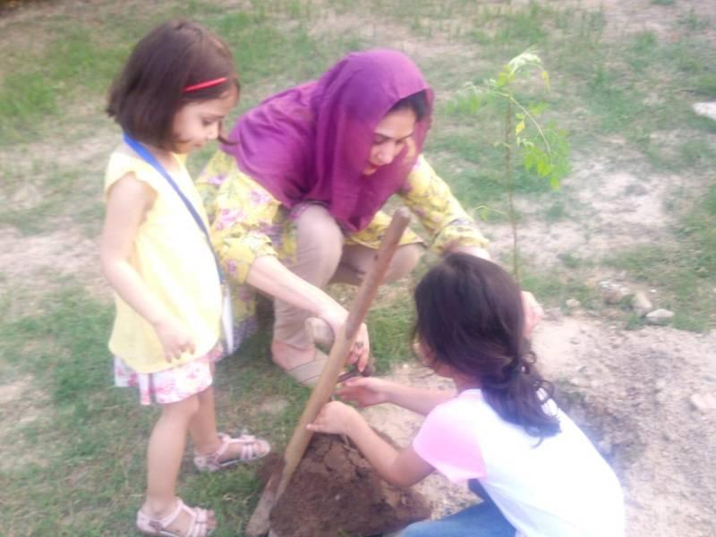 Tree plantation drive in Askari XI