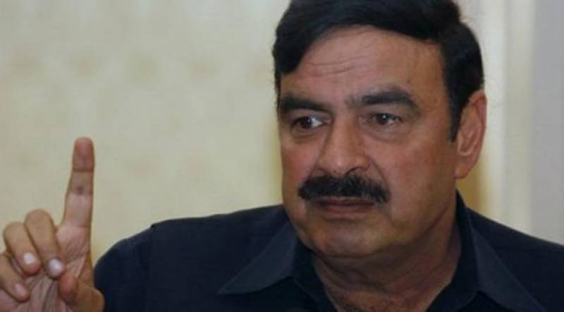 Sheikh Rasheed booked for fireworks during election campaign