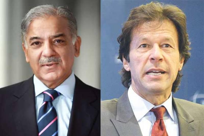 ECP takes notice of Imran Khan, Shehbaz Sharif's media talk on polling day