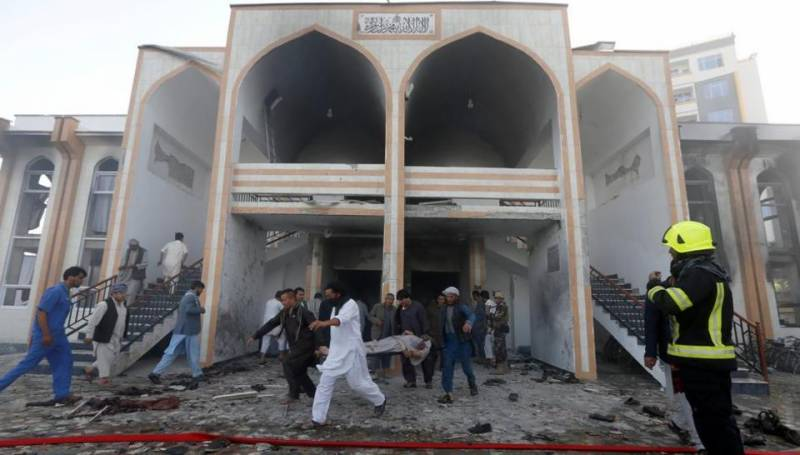 Dozens killed in suicide bombing at Afghanistan mosque during Friday prayers