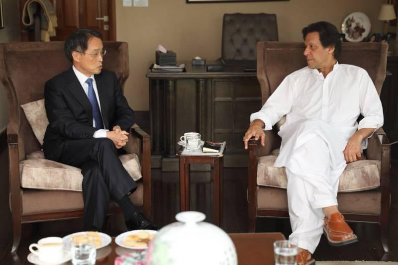 Japanese Ambassador felicitates Imran Khan on poll victory