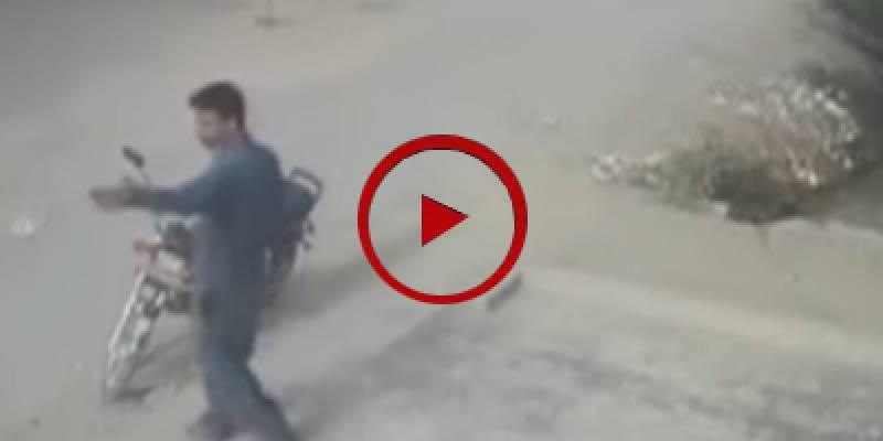 Brave citizen catches robbers in Karachi (VIDEO)