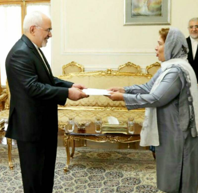 Pakistan's first woman envoy to Iran takes charge in Tehran