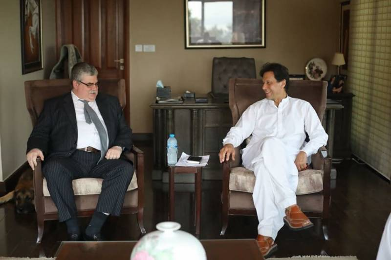 Russian envoy Alexey Dedov calls on Imran Khan, felicitates on election victory