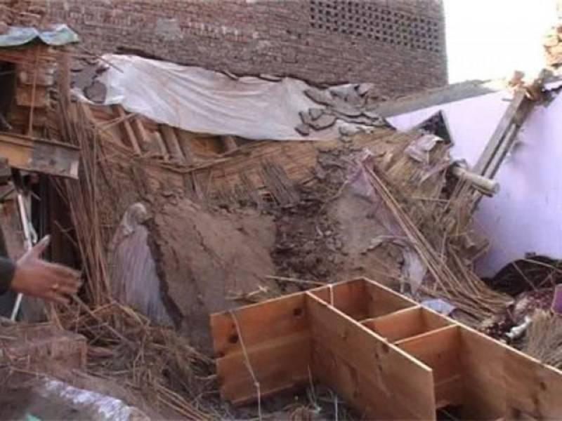 Roof collapse leaves 3 siblings dead in Kasur