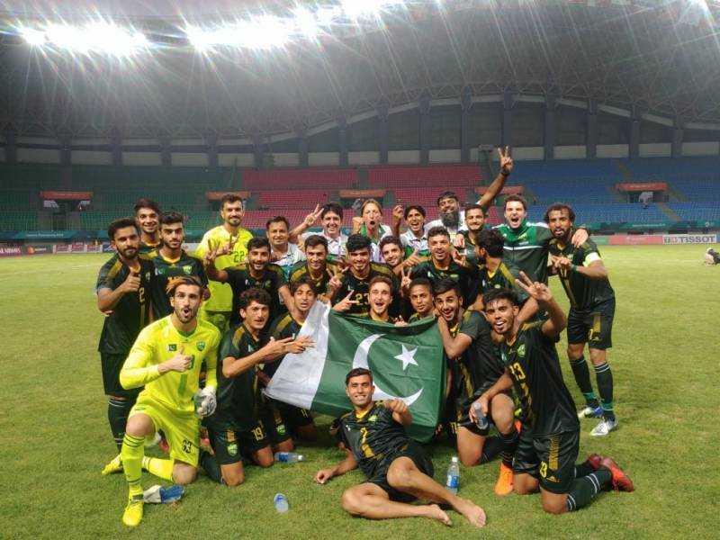 Pakistan records first football win in Asian Games after 44 years