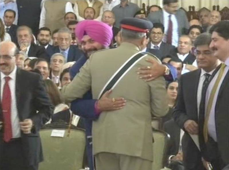 India slaps Navjot Singh Sidhu with sedition charges for hugging Pakistan's army chief