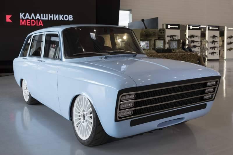 Russia's Kalashnikov takes on Elon Musk's Tesla with not-so-futuristic electric car