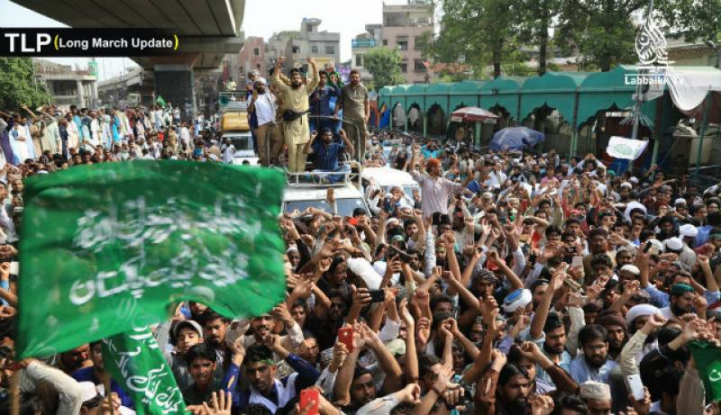 TLP marches on Islamabad with demand to cut Dutch ties