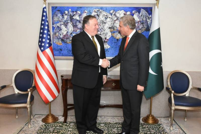 FM Qureshi stresses resetting Pak-US ties in maiden interaction with Pompeo-led delegation