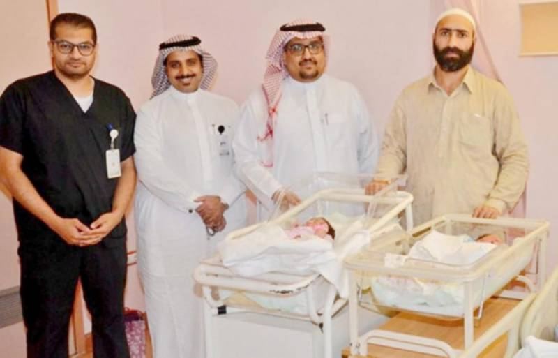 Pakistani pilgrim gives birth to twins for the first time in 9 years