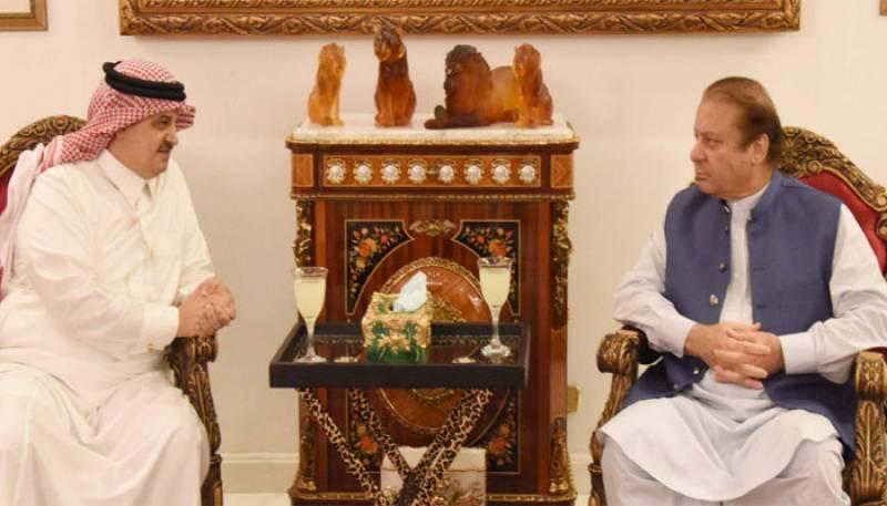 Saudi, Iranian envoys call on Nawaz Sharif, condole demise of Begum Kulsoom