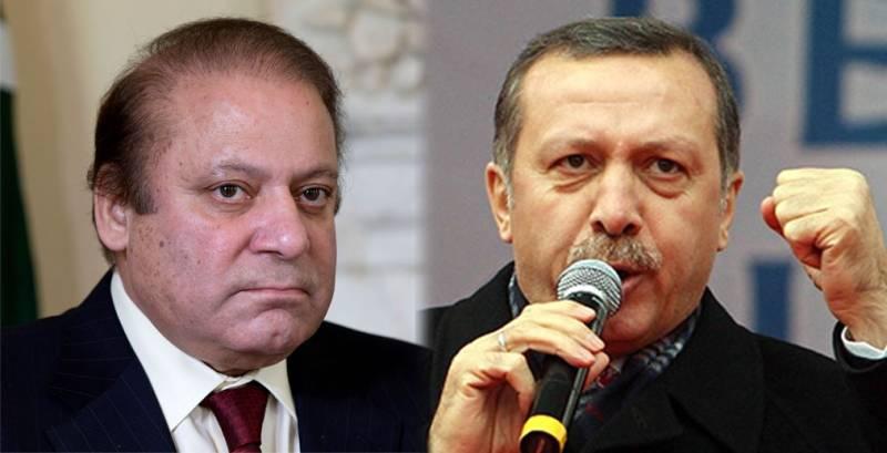 Turkish President Erdogan sends condolence letter to Nawaz Sharif