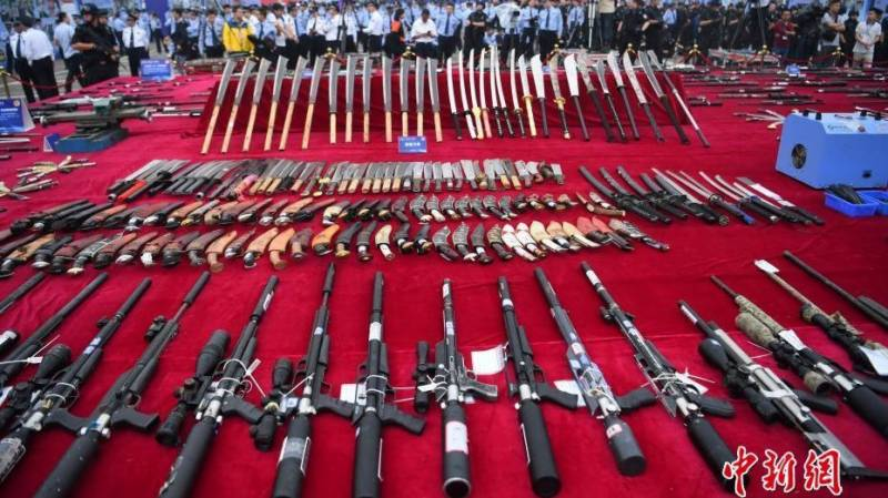 Chinese police destroy over 140,000 weapons publicly