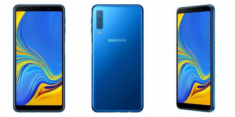 Samsung unveils first triple camera smartphone Galaxy A7 (2018)