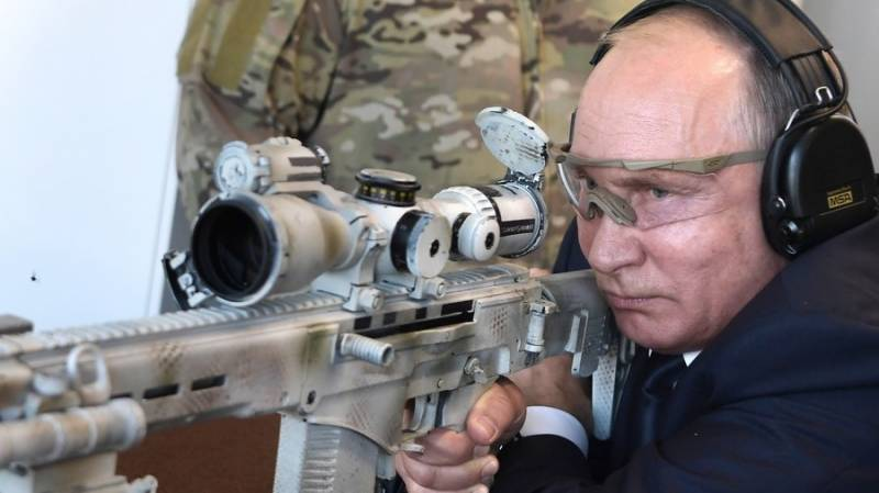 VIDEO: Russian president Putin tests new Kalashnikov marksman rifle