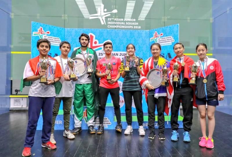 Pakistani players win three gold medals Asian Junior Squash Championship