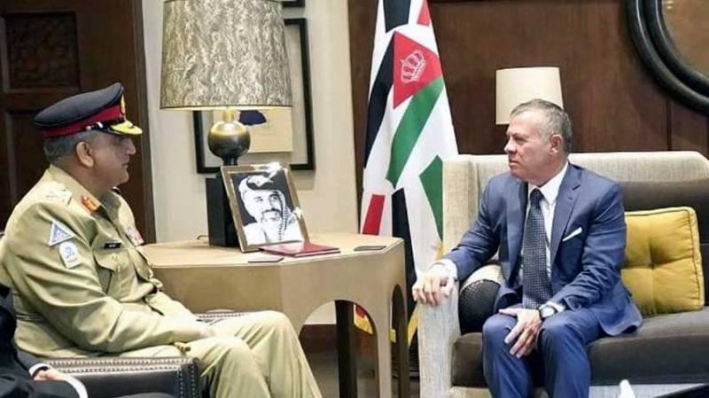 Jordanian King, COAS Bajwa discuss bilateral cooperation