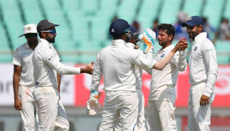 India thrash West Indies by an innings and 272 runs in opening Test