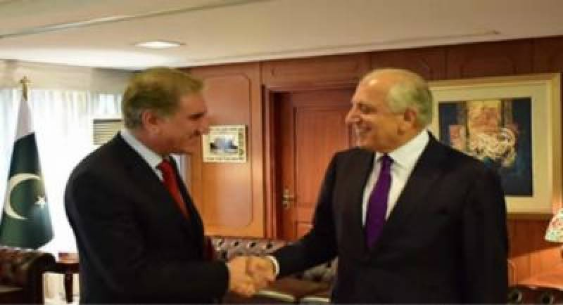 US special envoy calls on FM Qureshi to hold talks on Afghan peace process