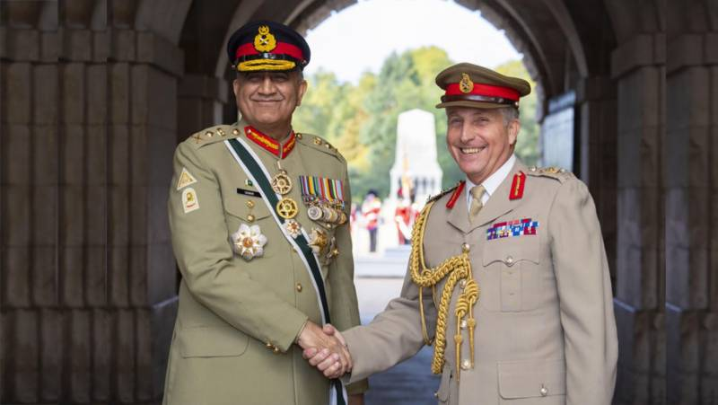 COAS Bajwa discusses stability in South Asia with British military chief