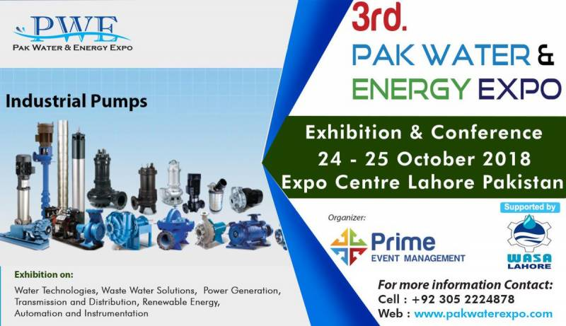 Two-day 3rd Pakistan Water & Energy Expo to start from Wednesday