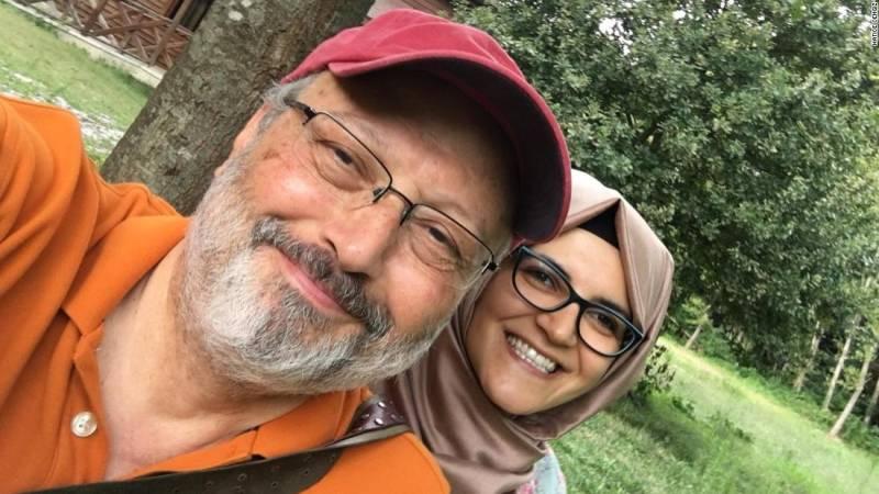 VIDEO: Jamal Khashoggi's fiancee writes him a parting messageafter Saudi confirms killing