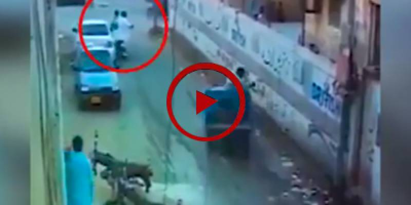 Robbery bid foiled after citizen escapes in Karachi (VIDEO)